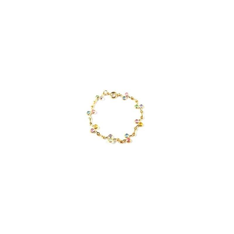 Pulseira Armazem RR Bijoux infantil 3 cristais coloridos