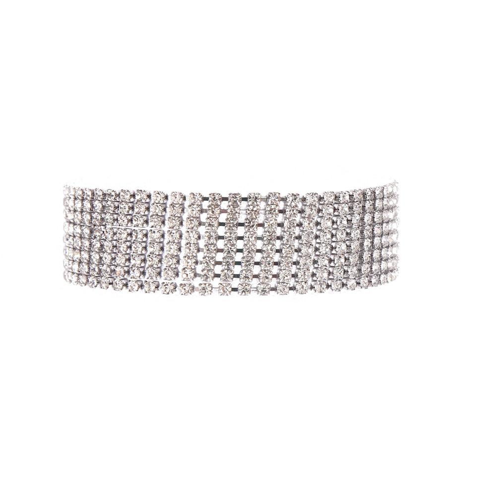 Pulseira Armazem RR Bijoux strass prata