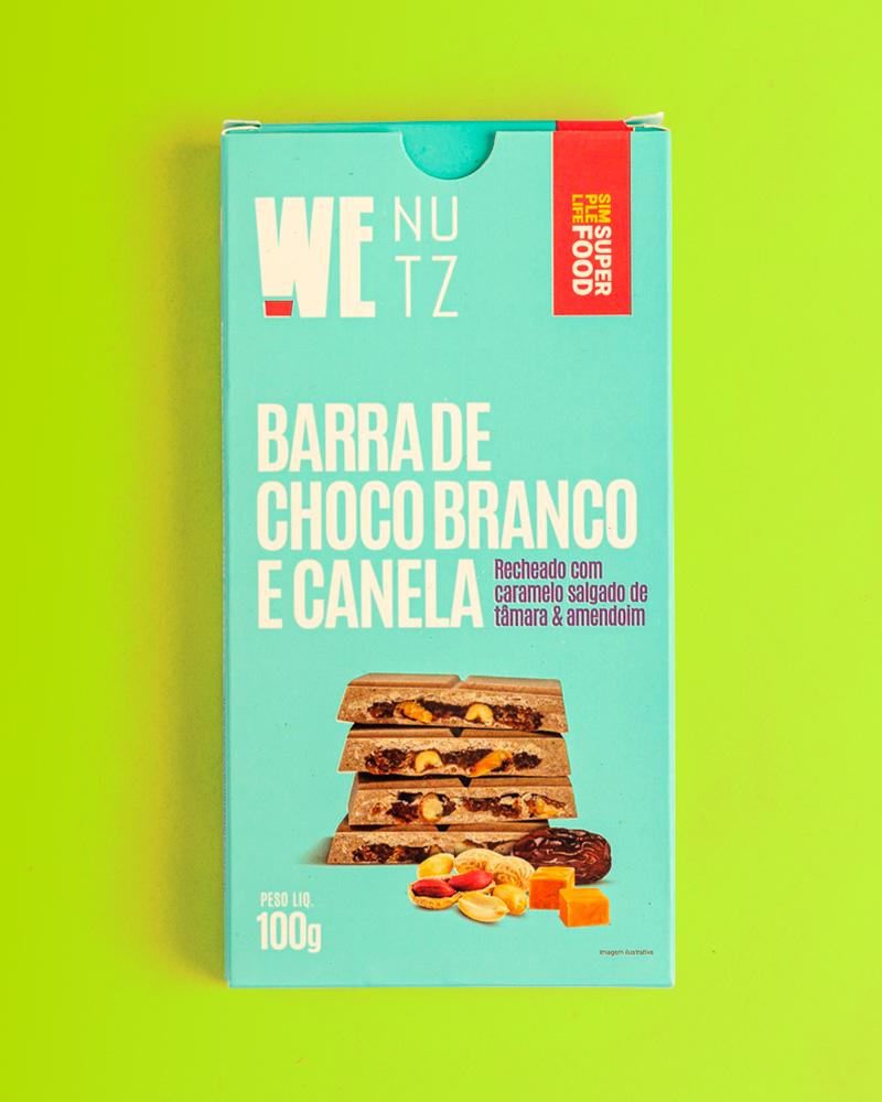 ChocoNutz Branco com Canela - Caramelo Salgado de Tâmaras