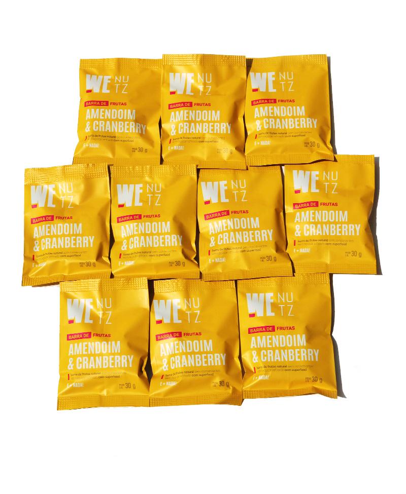 Combo Amendoim & Cranberry - 10 unidades