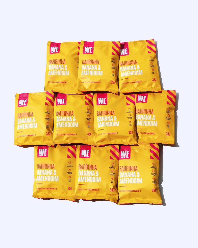 Combo Banana & Amendoim - 10 unidades