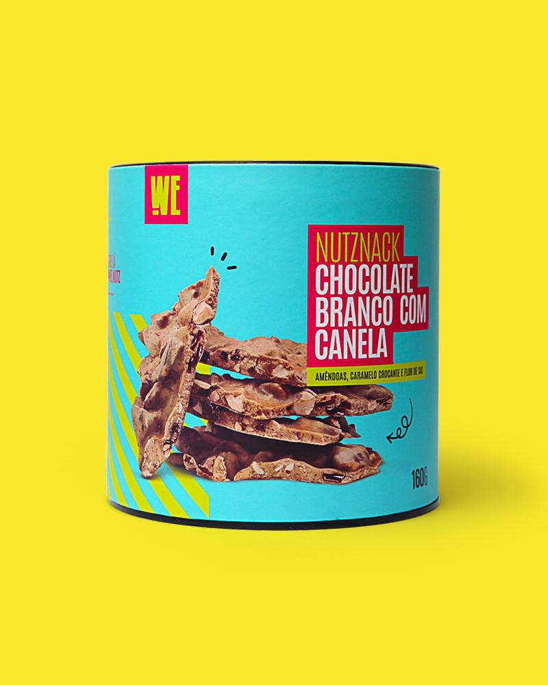 Nutznack Branco com Canela, Caramelo salgado e Amêndoas