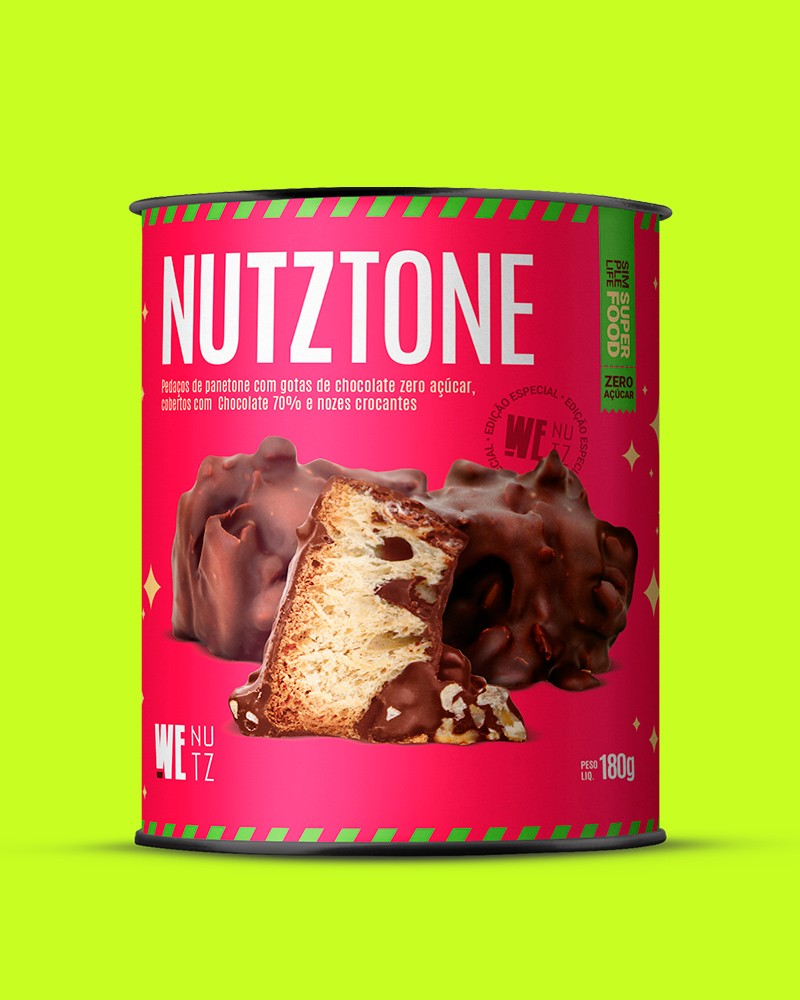 Nutztone 70% com gotas de chocolate zero açúcar
