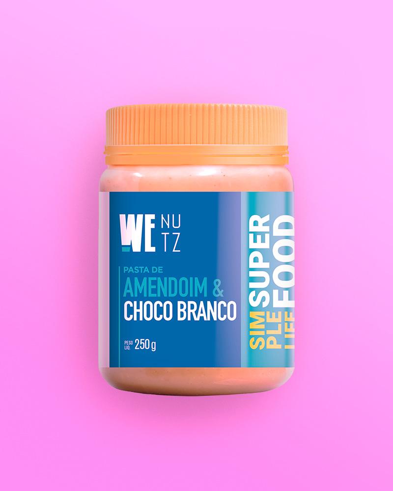 Pasta de Amendoim com Chocolate Branco - 250g