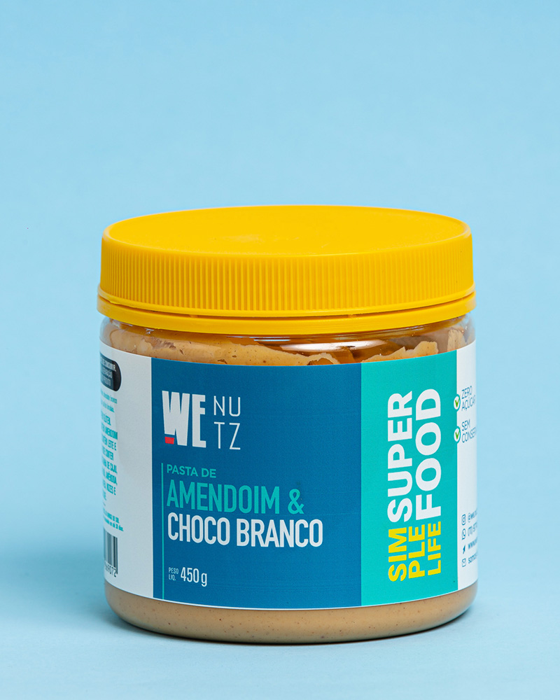 Pasta de Amendoim com Chocolate Branco - 450g