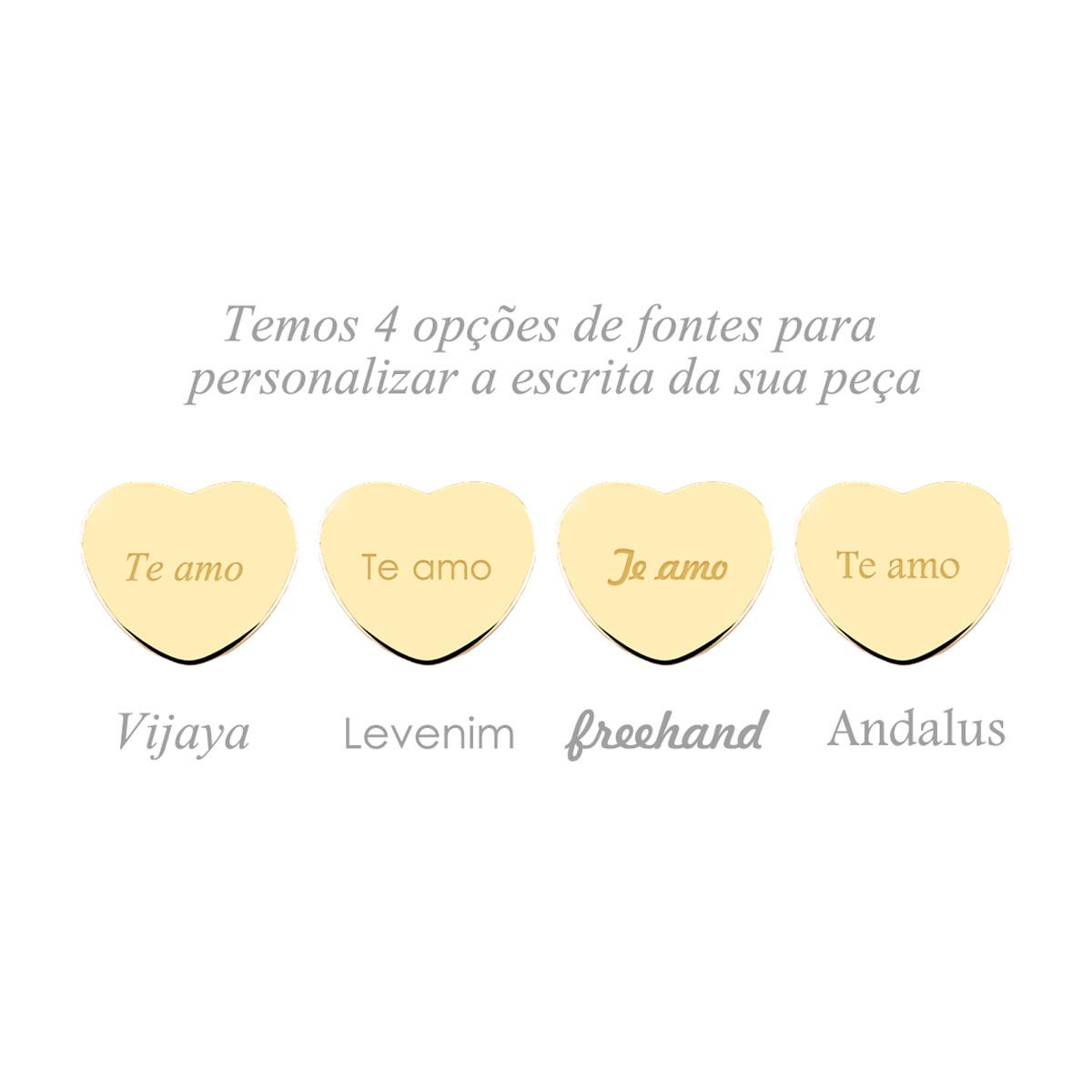PULSEIRA CORAÇÕES TRIPLO ESCRITA PRETA  - Serzzare
