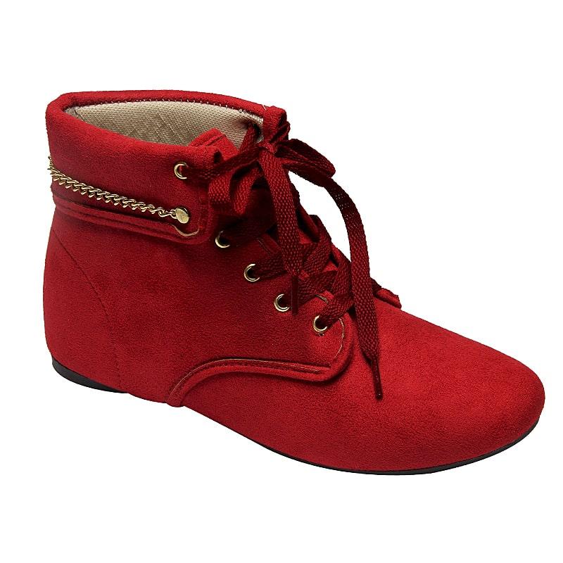Botinha Cheyenne Vermelha