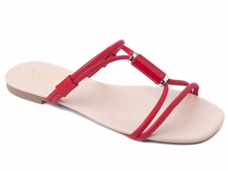 Rasteirinha Vermelha Fashion