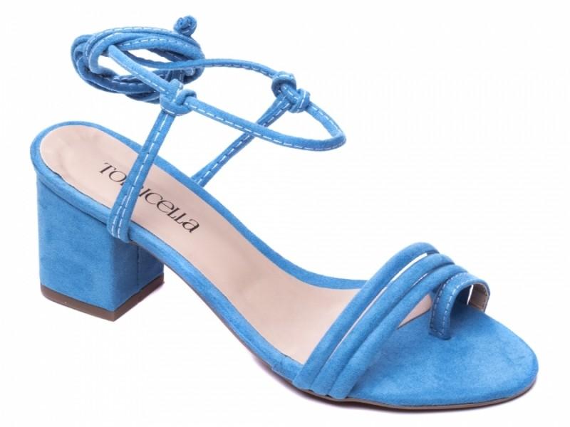 Sandália de Camurça Azul