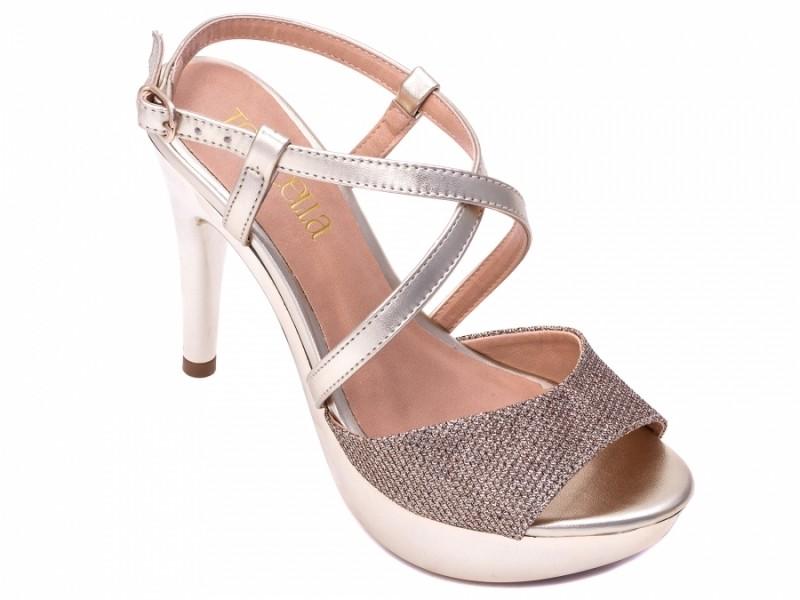 Sandália Gliter Dourada
