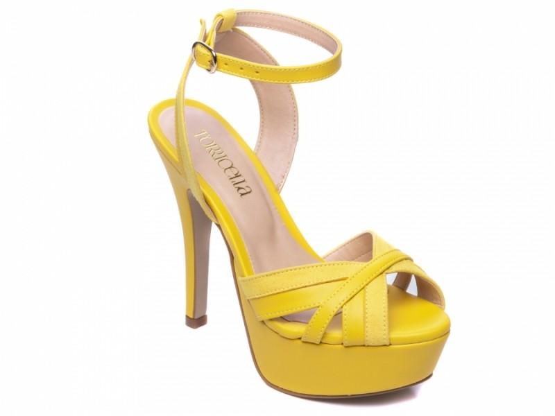 Sandália Meia Pata Amarelo