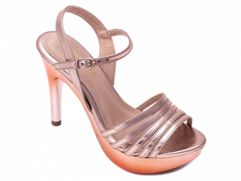 Sandalia Metalizada Bronze