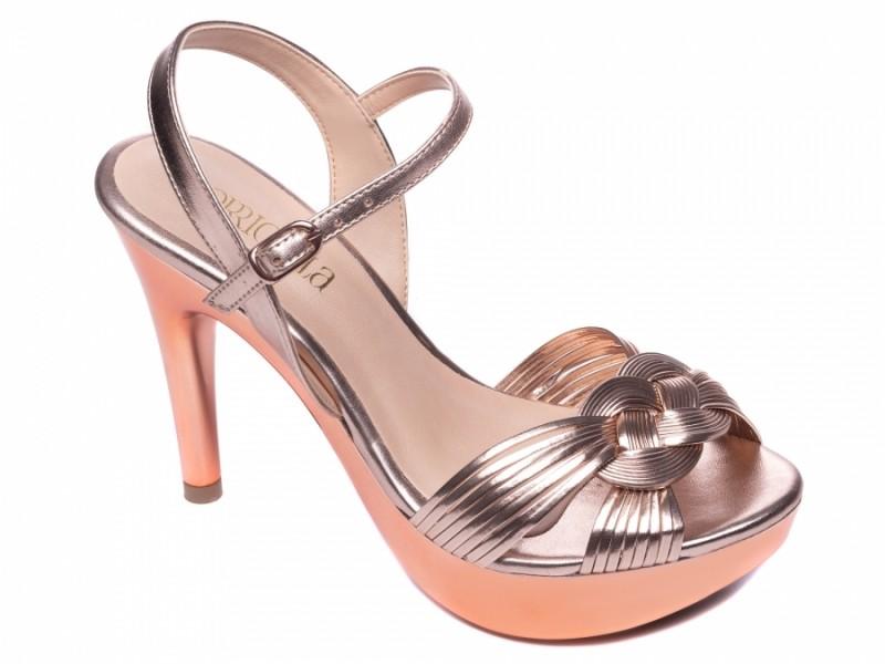 Sandália Rosê Metalizado