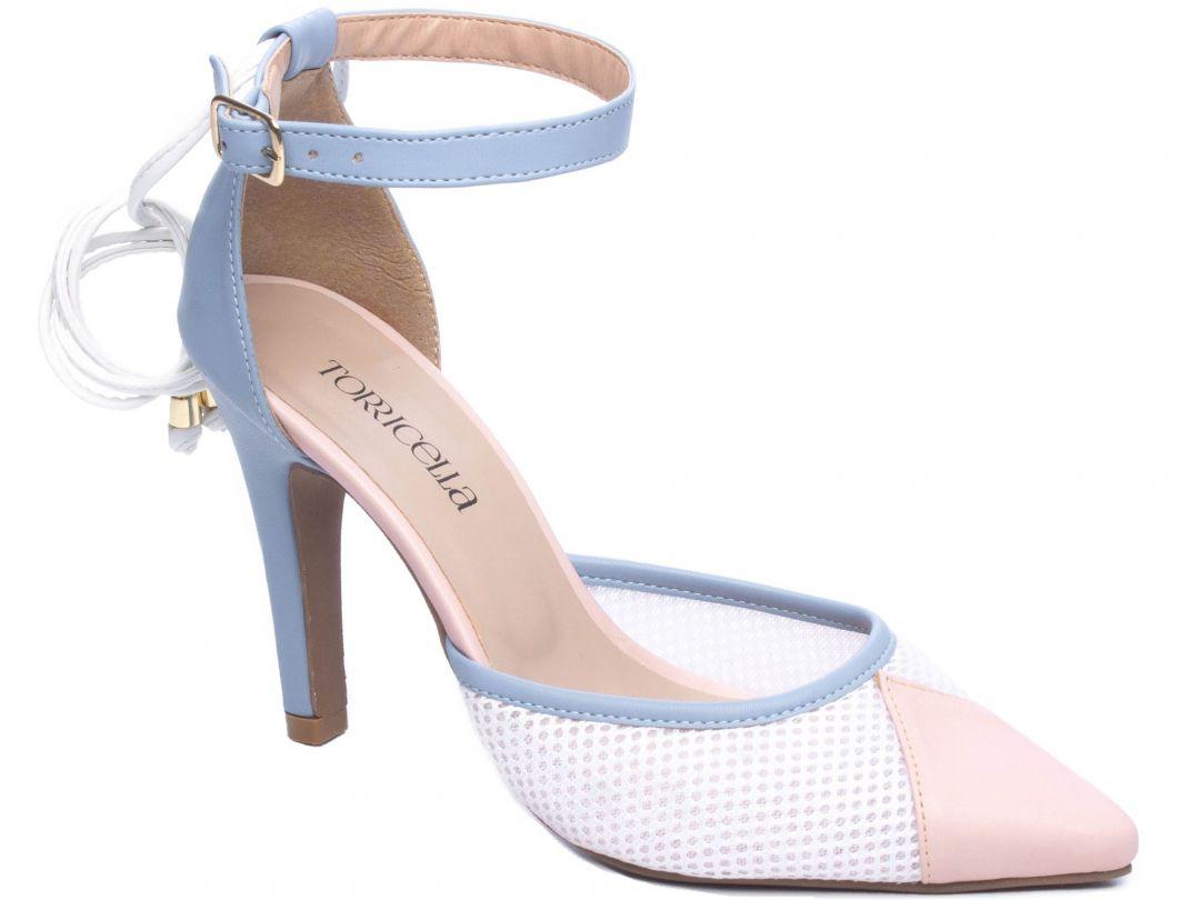 Sapato Scarpin Azul Torricella 66090