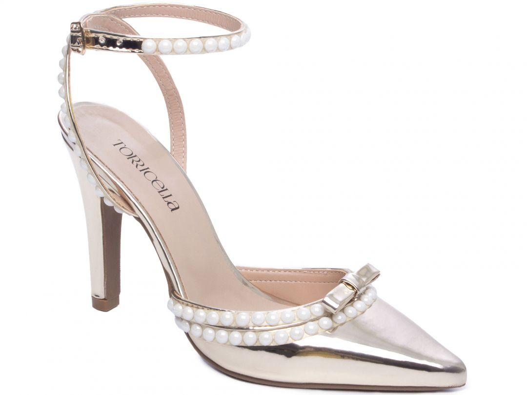 Sapato Scarpin Ouro Torricella 67000D