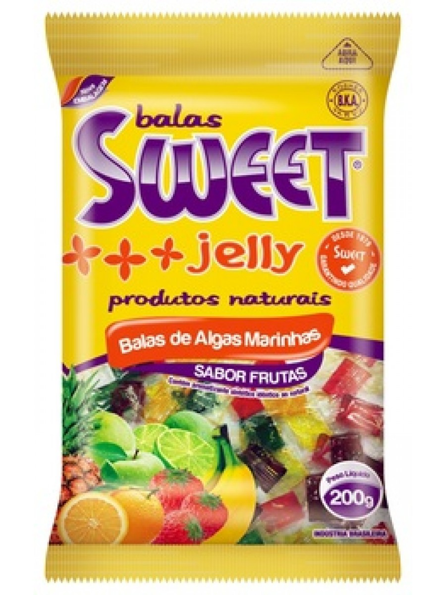 Balas de Algas Marinhas 200 gramas - sweet Jelly