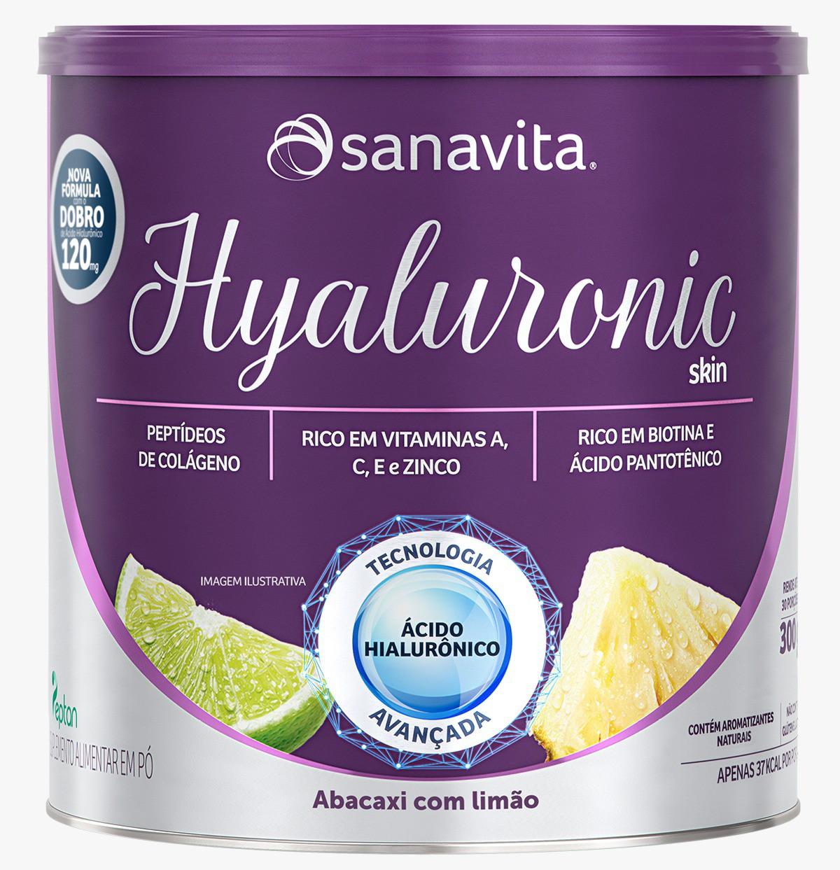 Hyaluronic  Skin Abacaxi Com Limão 300 Gramas - Sanavita