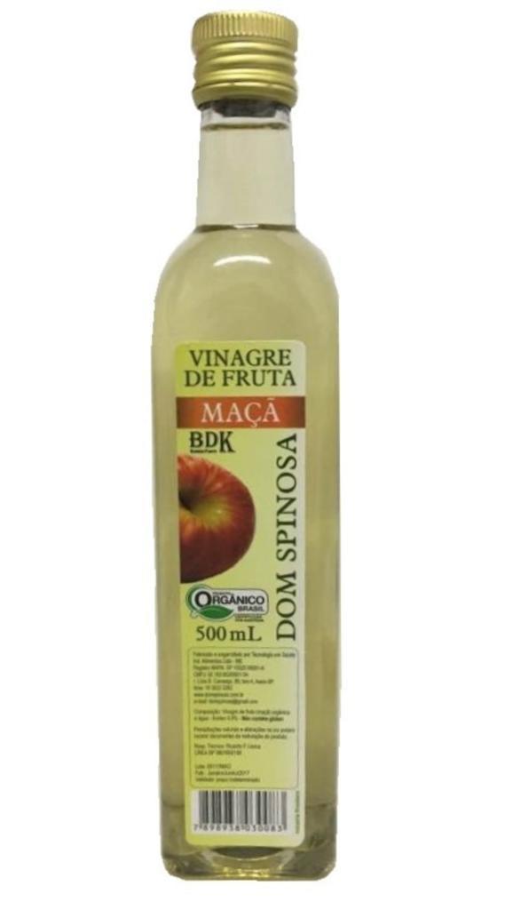 Vinagre de Maça Orgânico 500 ml Pet . Dom Spinosa