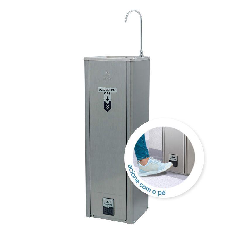 Purificador de Água IBBL Puripress HANDS FREE - INOX