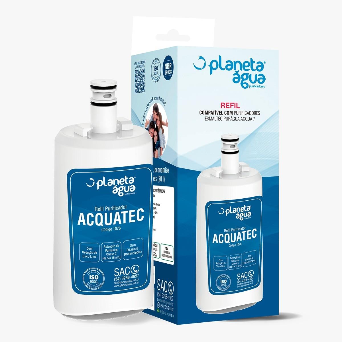 Refil ACQUATEC para purificadores Esmaltec Puragua Acqua 7 - Similar