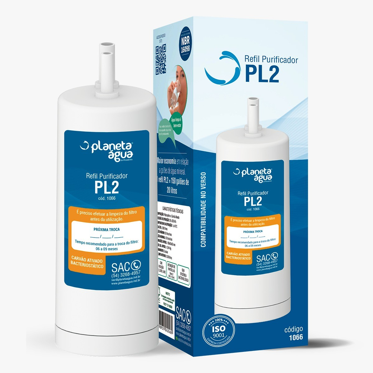 Refil  PL2 para purificadores Latina Purifive, Vitamax, PA731, PA735, PN535 - Similar