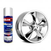 Tinta Spray Automotivo Cromo Efeito Cromado Premium Colorgin