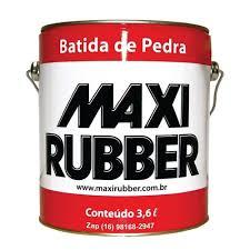 Batida de Pedra Branco 3,6l Maxi Rubber