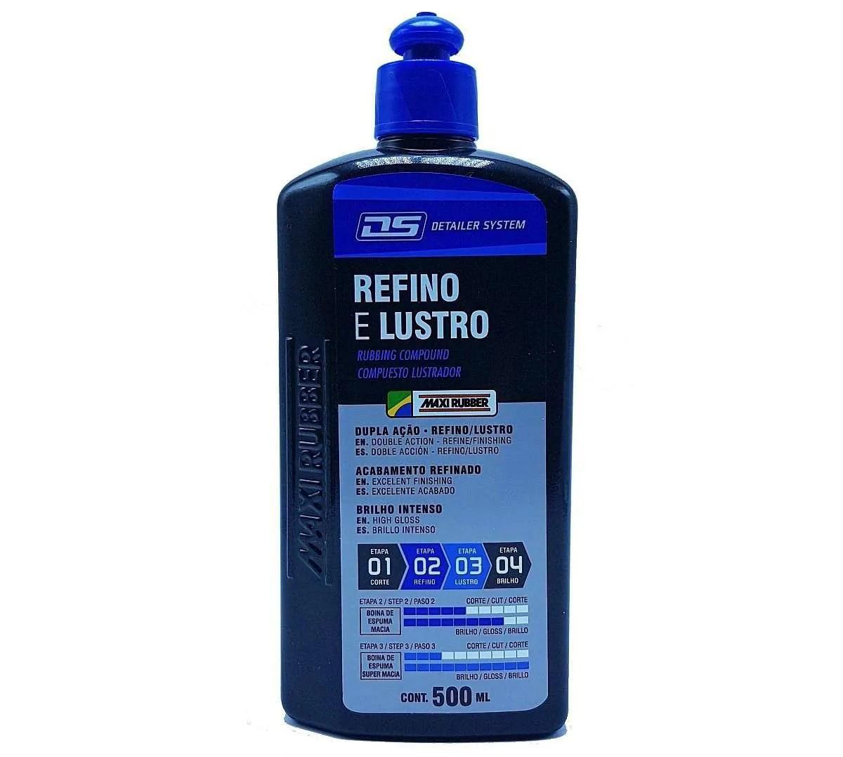Composto Polidor Refino e Lustro Detailer System 500ml Maxi Rubber