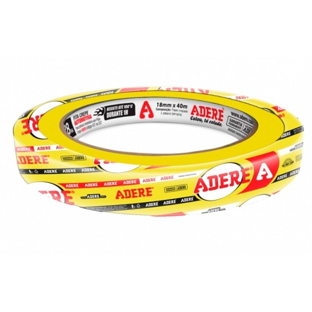 Fita Crepe Automotiva 18x40m Amarela Adere