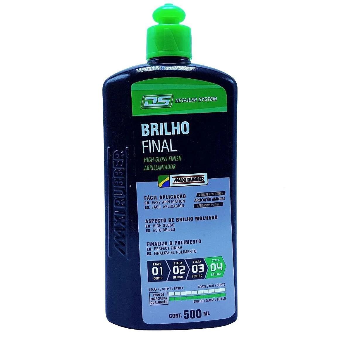 Liquido Finalizador Brilho Final Detailer System 500ml Maxi Rubber