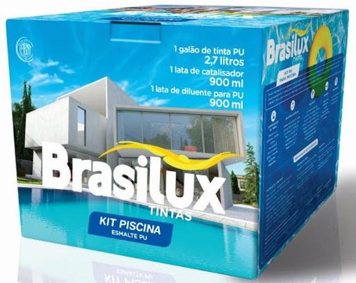 Tinta Para Piscina Esmalte PU Azul KIT 4,500 L Brasilux
