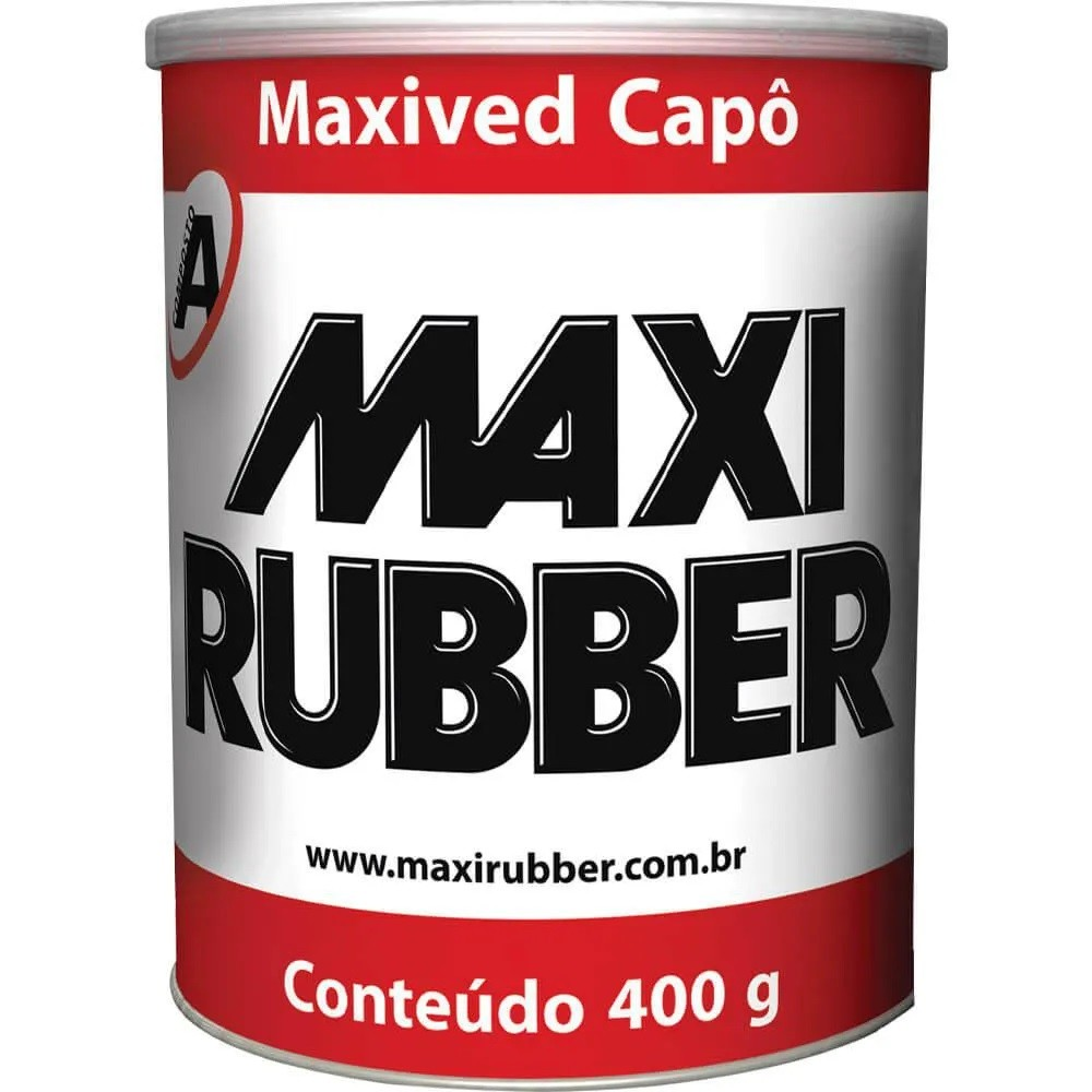 Vedador de Carrocerias Maxived Capô Branco 400g Maxi Rubber
