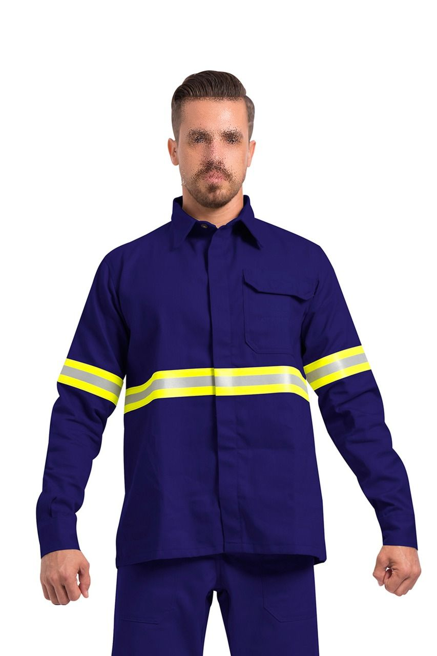 CAMISA UNIFORME ELETRICISTA RISCO 2 ANTI CHAMA ARCO ELETRICO UF FIRE GUARDIAN DX CA 30975
