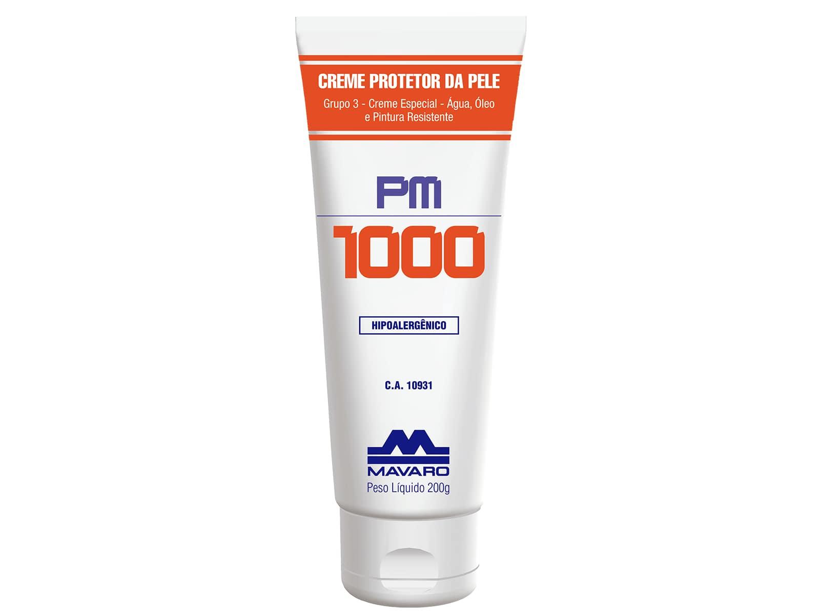 CREME PM1000 LUVA QUÍMICA GRUPO 3 200G MAVARO CA 10931