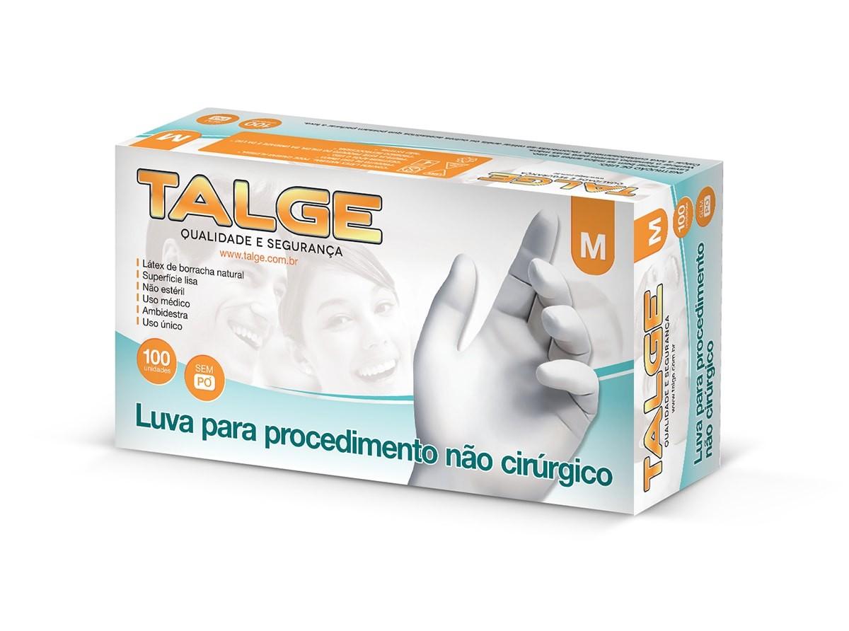 LUVA LÁTEX DESCARTÁVEL SEM PÓ TALCO TALGE CA 28324