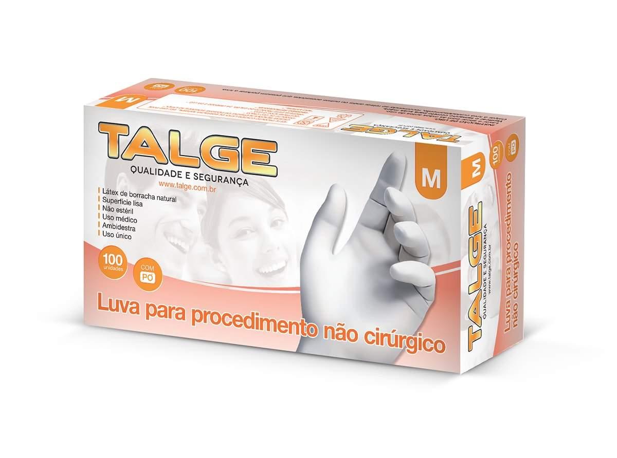 LUVA LÁTEX PROCEDIMENTO COM PÓ TALCO TALGE CA 38804