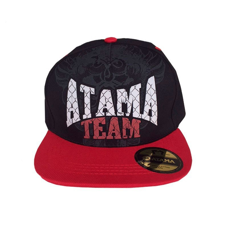 Boné Atama Team Snapback Preto Aba Vermelha Atama