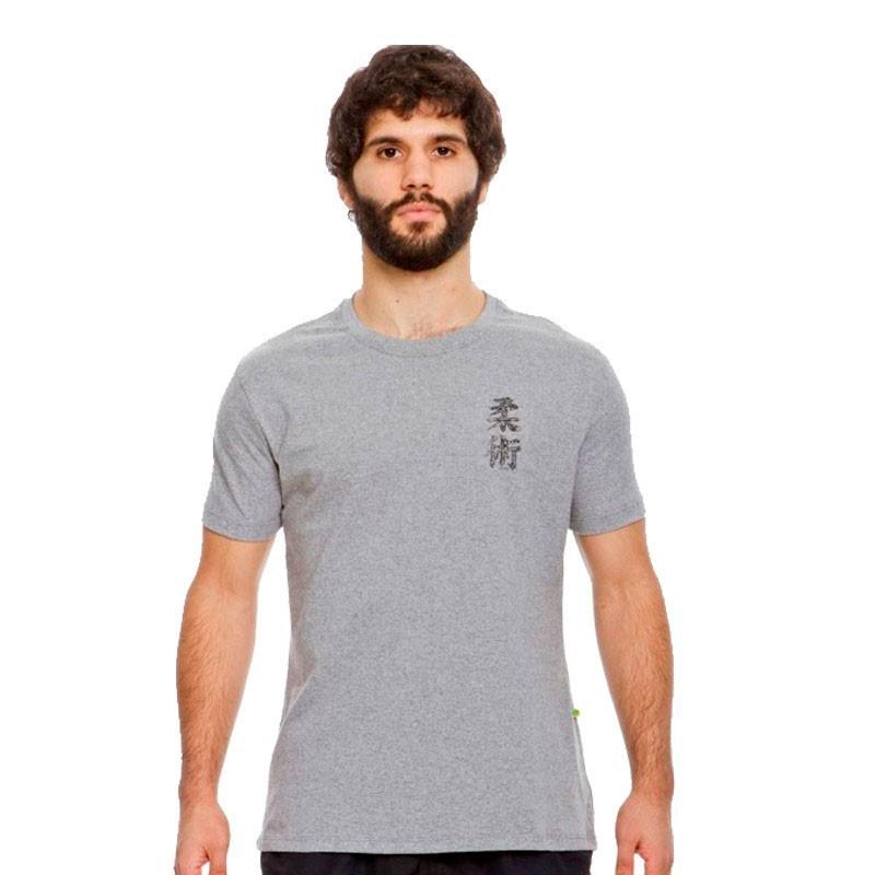 Camiseta Jiu Jitsu Dragão Kanji Cinza