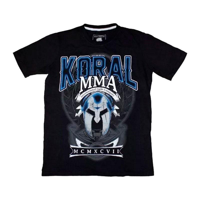 Camiseta Jiu Jitsu Koral Gladiador Preta Azul
