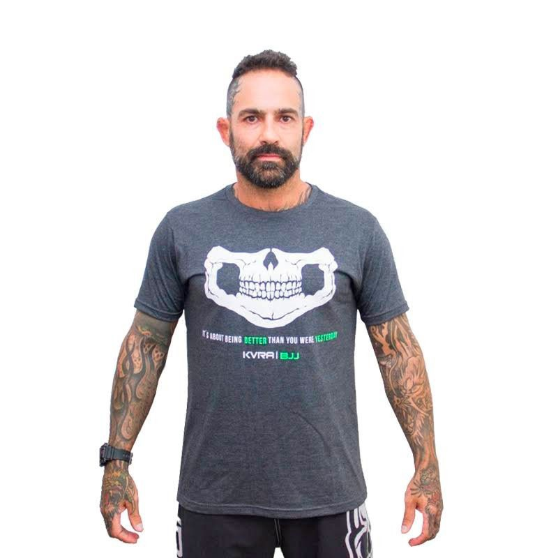 Camiseta Jiu Jitsu Kvra Better Cinza