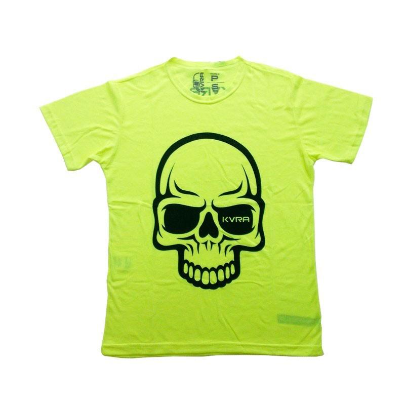 Camiseta Jiu Jitsu Kvra Full Skull Amarela