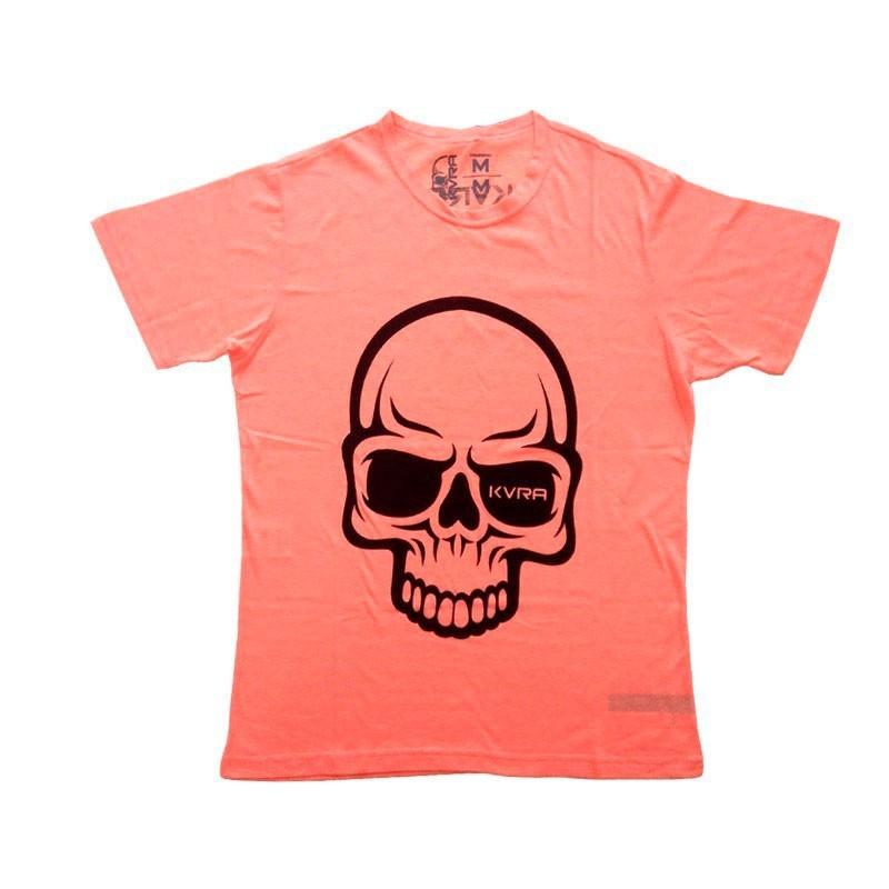 Camiseta Jiu Jitsu Kvra Full Skull Laranja