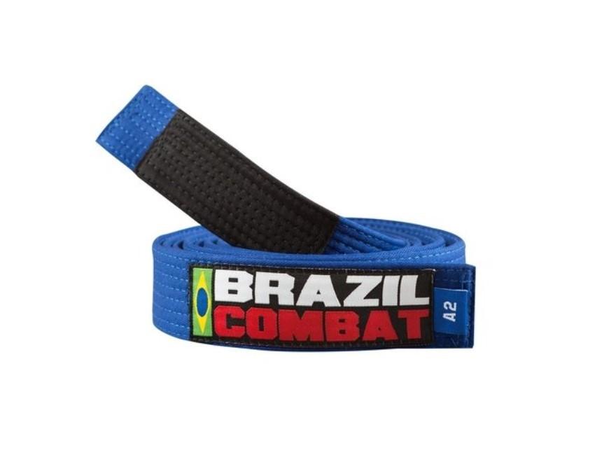 Faixa Jiu Jitsu Brazil Combat Tradicional Azul Royal Ponta Preta