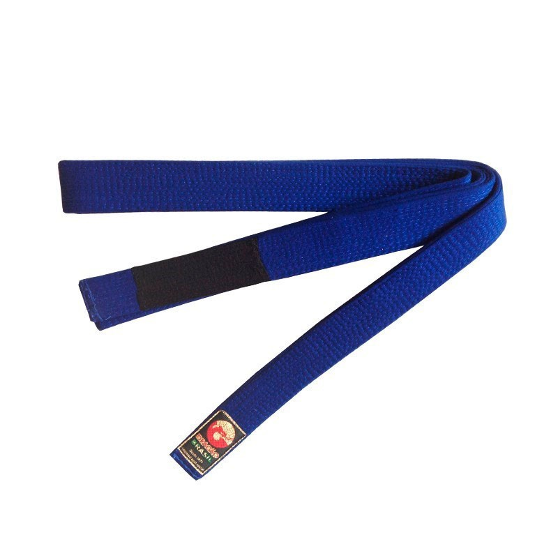 Faixa Jiu Jitsu Dragão Oficial Azul Royal Ponta Preta