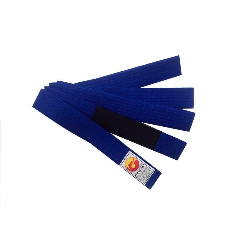 Faixa Jiu Jitsu Dragão Original Azul Royal Ponta Preta