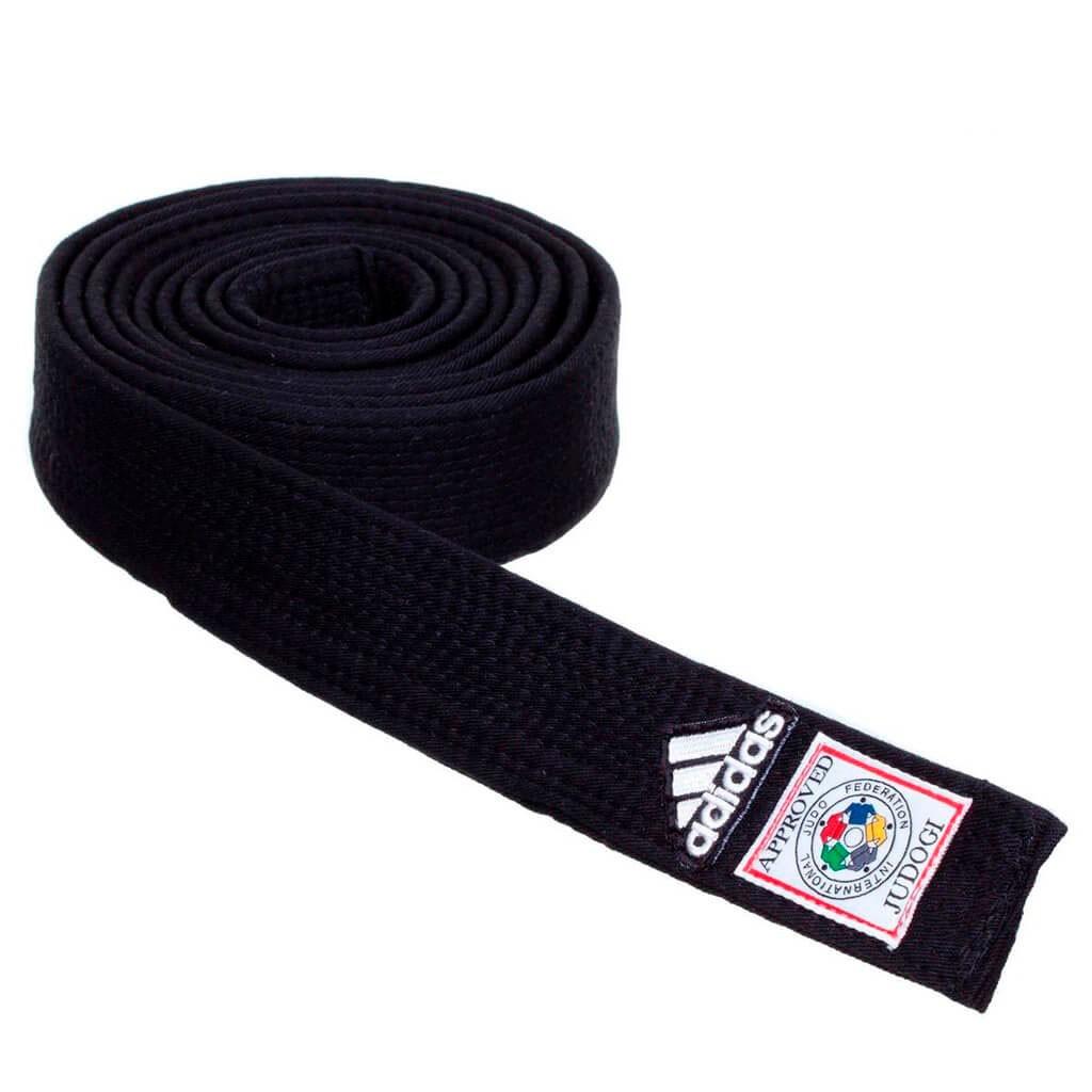 Faixa Judo Adidas Elite Preta Selo IFJ