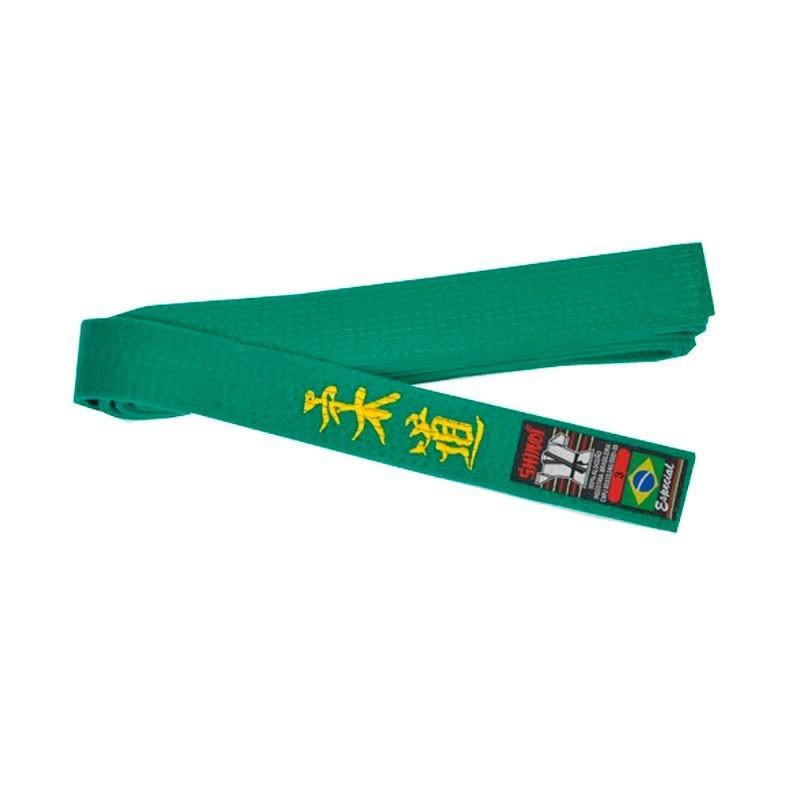 Faixa Judo Shiroi Especial Bordada Verde