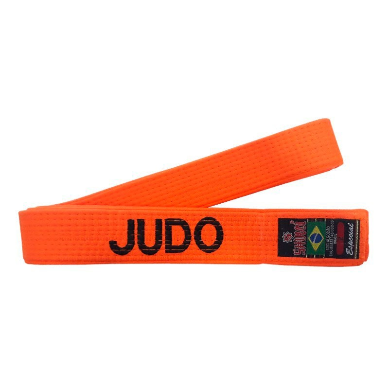 Faixa Judo Shiroi Laranja Bordada Português
