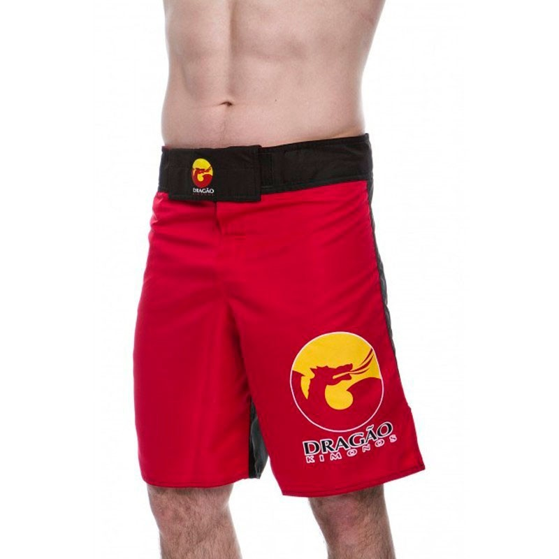 Fight Short Bermuda Dragão Logos Vermelho