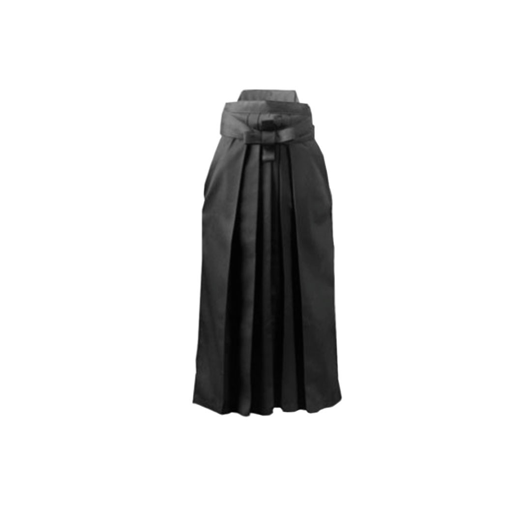 Hakama Aikido Shiroi Oxford Preto Adulto Unissex
